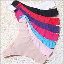 2015 Sale Promotion Invisible Underwear Thong Panties Nylon Spandex Gas Seamless Crotch Thong Ice Women A Female T Pants Ladies(China (Mainland))