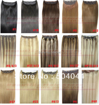 """free shipping 16""""-28"""" 1pcs set 100% silky soft indian remy hair clips in/on human hair extensions 70g 80g 100g 120g 140g 160g"""
