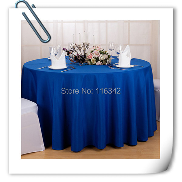 2015 Big Discount !! wholesale cheap polyester 70inch table cloths 20pcs blue tablecloths FREE SHIPPING(China (Mainland))