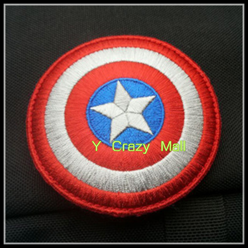 5Pcs Captain America Patch Embroidered Tactical 3D Patches Combat The Avengers Velcro Badge Fabric Armband(China (Mainland))