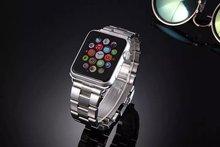 42 mm Premium lujo correa de acero inoxidable hebilla clásica adaptador de conector bandas reloj para Apple iWatch