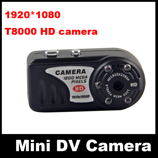 Full-HD 1920*1080P 30fps Mini DV DVR Metal Body Smallest Digital Camera with IR Night Vision Micro Video / Voice Recorder T8000(China (Mainland))
