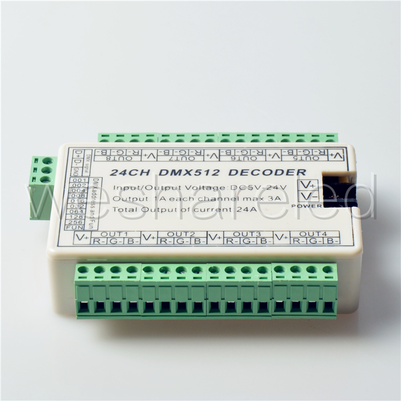24 CH dmx dimmer Controller,24 channel dmx 512 dimmer.Remote areas by China Post Air Mail(China (Mainland))