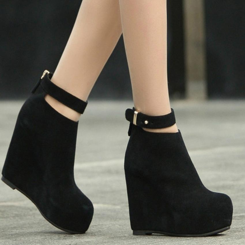 Online Get Cheap Black Wedge Heel Boots -Aliexpress.com | Alibaba