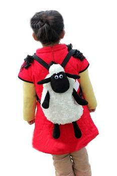 Hot sale Super cute Sheep plush backpack baby schoolbag Travelbag Shaun the sheep free shipping