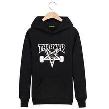 Brand Thrasher Hoodie Men Sweatshirt Mens Trasher O-neck Hip Hop Hoodies and Sweatshirts Thin Felpe Sudaderas Hombre hoodies(China (Mainland))