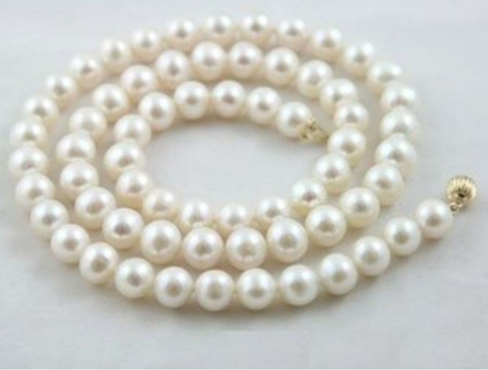 """fast 7-8MM White Akoya Pearl Necklace AAA 17""""(China (Mainland))"""