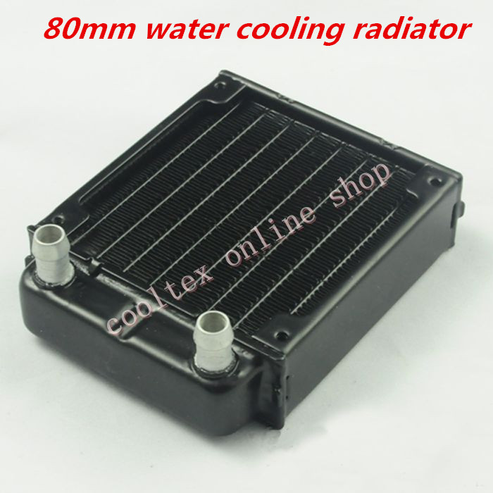 80mm water cooling radiator for computer Chip CPU GPU VGA RAM Laser cooling cooler Aluminum Heat Exchanger(China (Mainland))