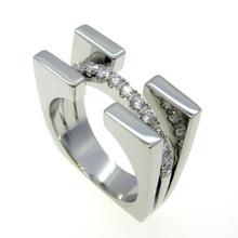แฟชั่นหรูหราเครื่องประดับแบรนด์ใหม่มาถึงMulticolorแหวนสำหรับผู้หญิง18พันโกลเด้น/ทองคำขาว/ Rose G Old AAAเพทายแหวนAnillos