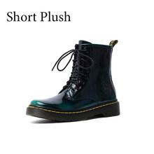2019 Artı Boyutu 34-42 Yeni 2019 Hakiki Deri Kadın Çizmeler Dantel Kadar Martin Çizmeler Kadın yarım çizmeler Marka Kış sıcak Bayan Ayakkabıları(China)