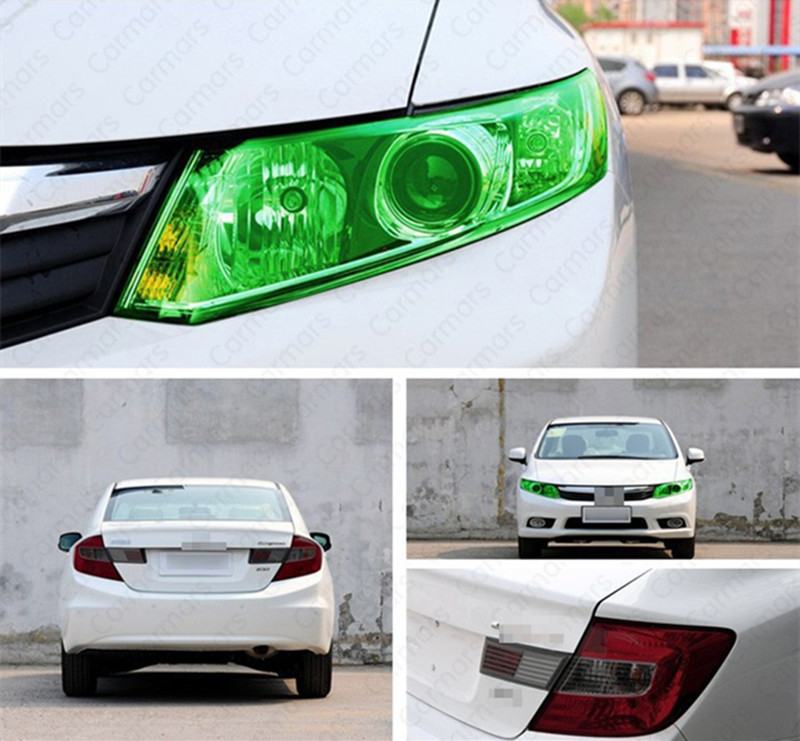 car styling 12 Colors 30cm x100cm Auto Car Light Headlight film Taillight Tint Vinyl Film Sticker
