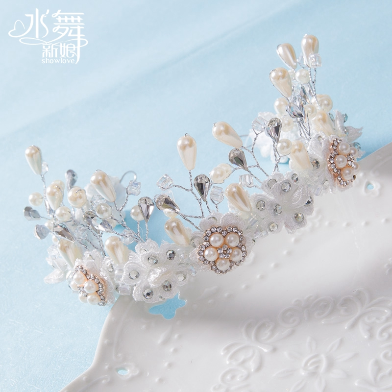 Handmade Water Bride Hair Bands Nice Beaded Rhinestone Wedding Hair Accessory Dress Hair Accessory Crown Jewelry(China (Mainland))