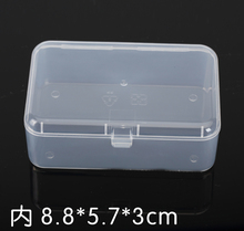 50pcs Rectangular transparent plastic box PP-5 Storage Collections Container Box Bank card Case Product packaging 9*6*3.2cm(China (Mainland))