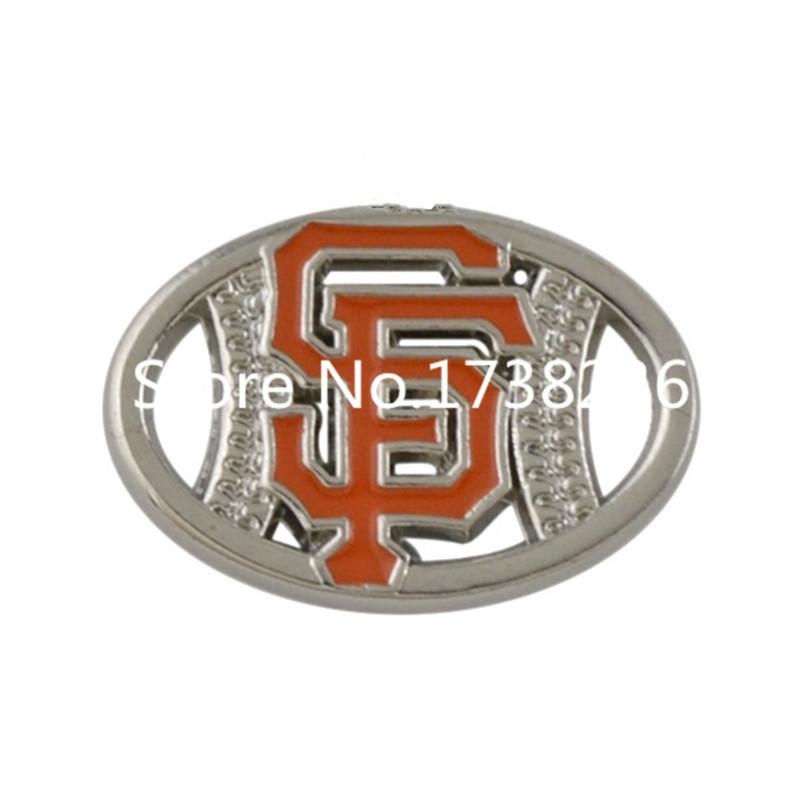 (50 pcs/lot) Alloy Enamel Finished One Side Football Logo San Francisco Giants Charm(China (Mainland))
