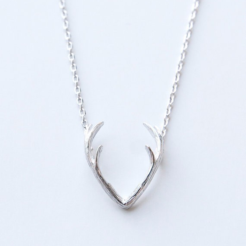 1 piece n056 fashion deer horn antler necklace unique for Women s minimalist jewelry