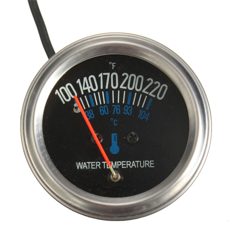 NEW 52mm Mechanical Auto Water Temperature Temp Meter Gauge 38~104 Degree 12V Yellow Light New Arrival High Quality(China (Mainland))