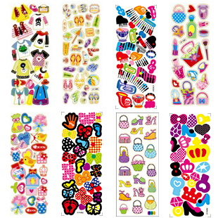 100pcs New Arrival Pink Cartoon Wholesale Girls Favorite Bag Shoe Shirts Bowk Not Change Clothes Stickers(China (Mainland))