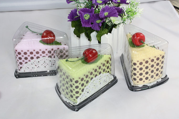 Colorful Towel cake,Cake Towel,Boxed triangle Mousse,wedding souvenir ,wholesale,promotional gift,48PCS/LOT,FREE SHIPPING(China (Mainland))