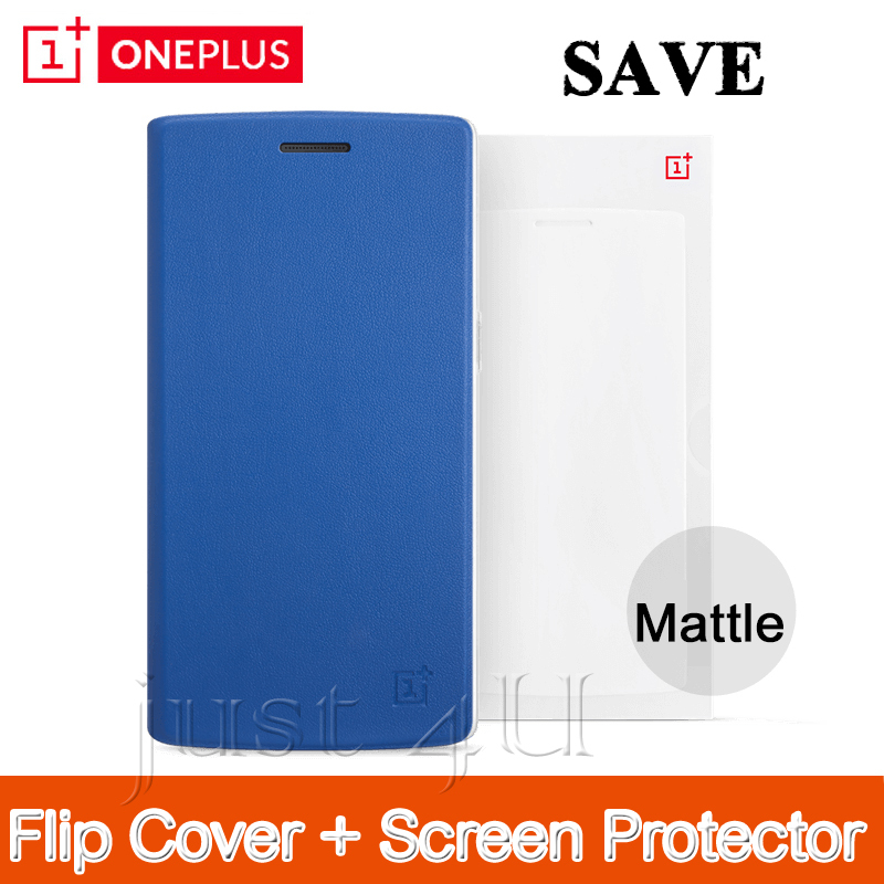 Oneplus One Bundle Oneplus One Accessories Bundles Flip Cover +Mattle Screen Protector(China (Mainland))