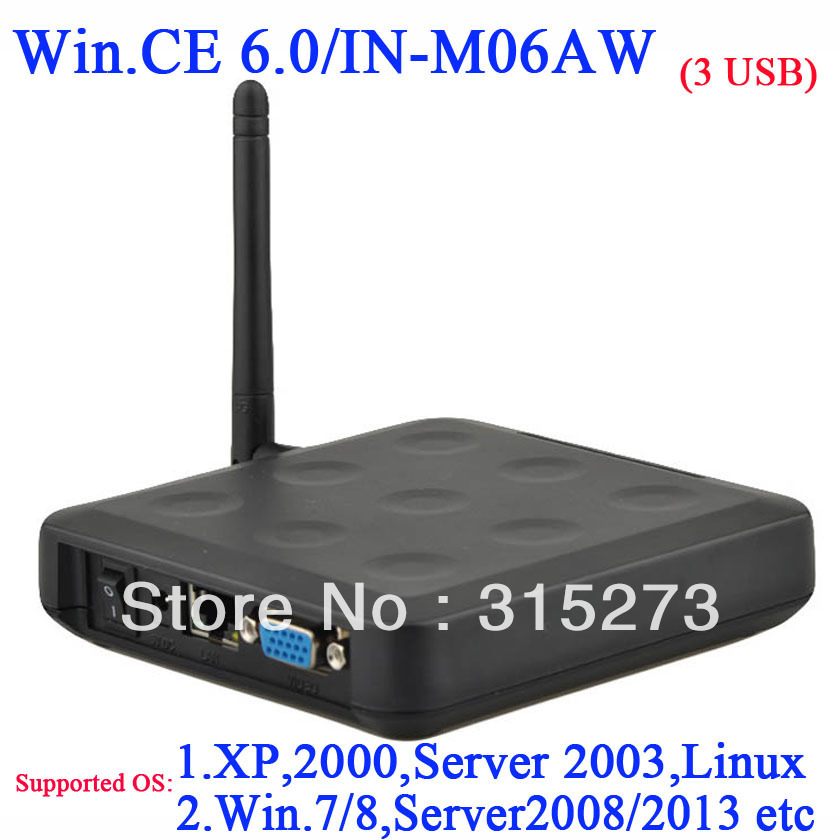 Lastest IN-M06AW Wireless Win CE 6.0 OS Network Terminal Thin Client Net Computer Computer Sharing With RDP(China (Mainland))