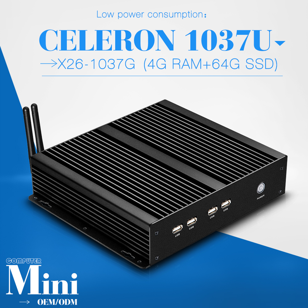 Promotional price cheap mini pc station thin client C1037U desktop computer thin client latest mini computer with 4g ram 64g ssd(China (Mainland))