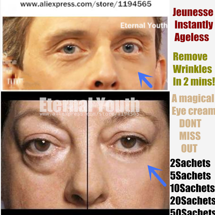 Instantly Ageless Products Face Firming Lift Eye Cream TWO 2 Sachets Without the Needles anti wrinkle