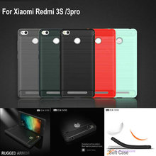 Buy Luxury Hybrid Slim Armor Case Xiaomi Redmi 3S Carbon Fiber Texture Brushed Silicone Soft Gel Back Cover Redmi 3 PRO for $3.50 in AliExpress store
