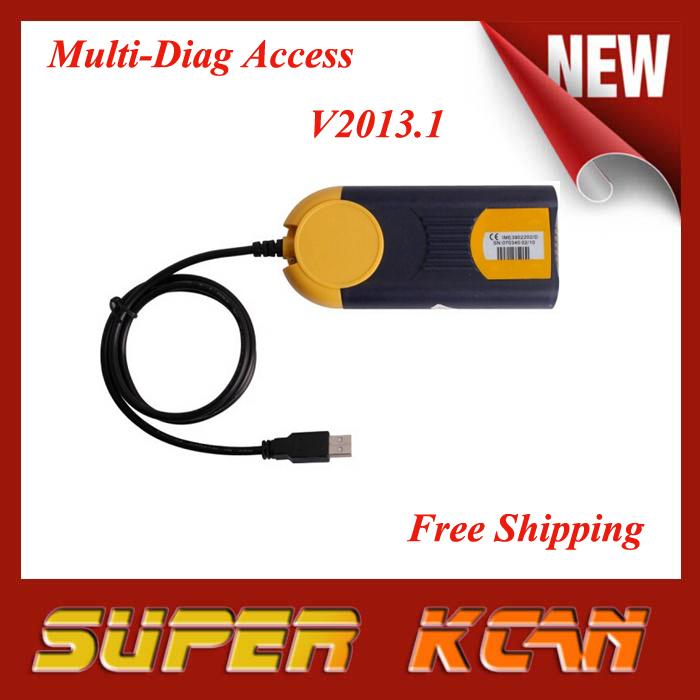 DHL Free shipping Newest v2013.1 multi diag access passthru xs j2534 Multi Di@g Access(China (Mainland))