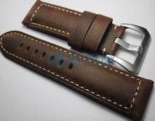 Handmade Leather Watchbands For Panerai, 24MM*22MM Leather Strap, Men Watch Watchbands,For Panerai Watchbands