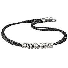 Fashion Men multi-circle alloy pendant personality punk accessories fashion vintage short design leather necklace