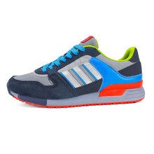 Summer style New brand running shoes Men soprt running shoes Mesh & Suede shoes Beathable stitching mixed colors shoes