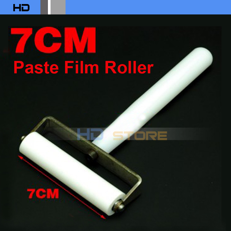 7cm White Silicone pasting roller for iPhone lcd screen film wheel refurbish(China (Mainland))