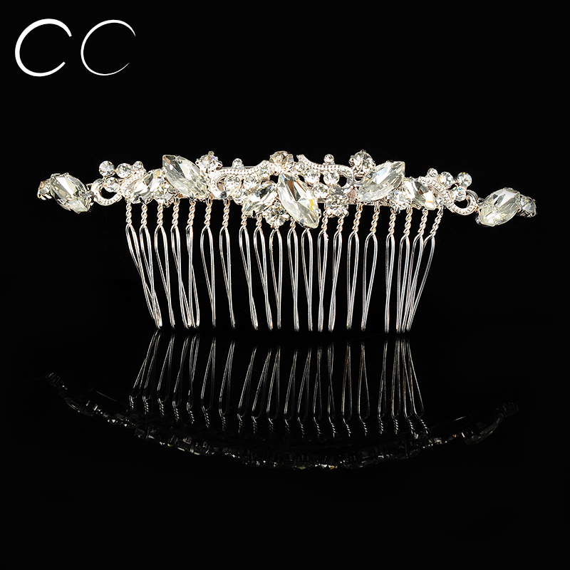 2016 New Simple Design High Quality Austrian Crystal Hair Combs for Women Wedding Jewelry Brides Femme Bijoux Accessories A038(China (Mainland))