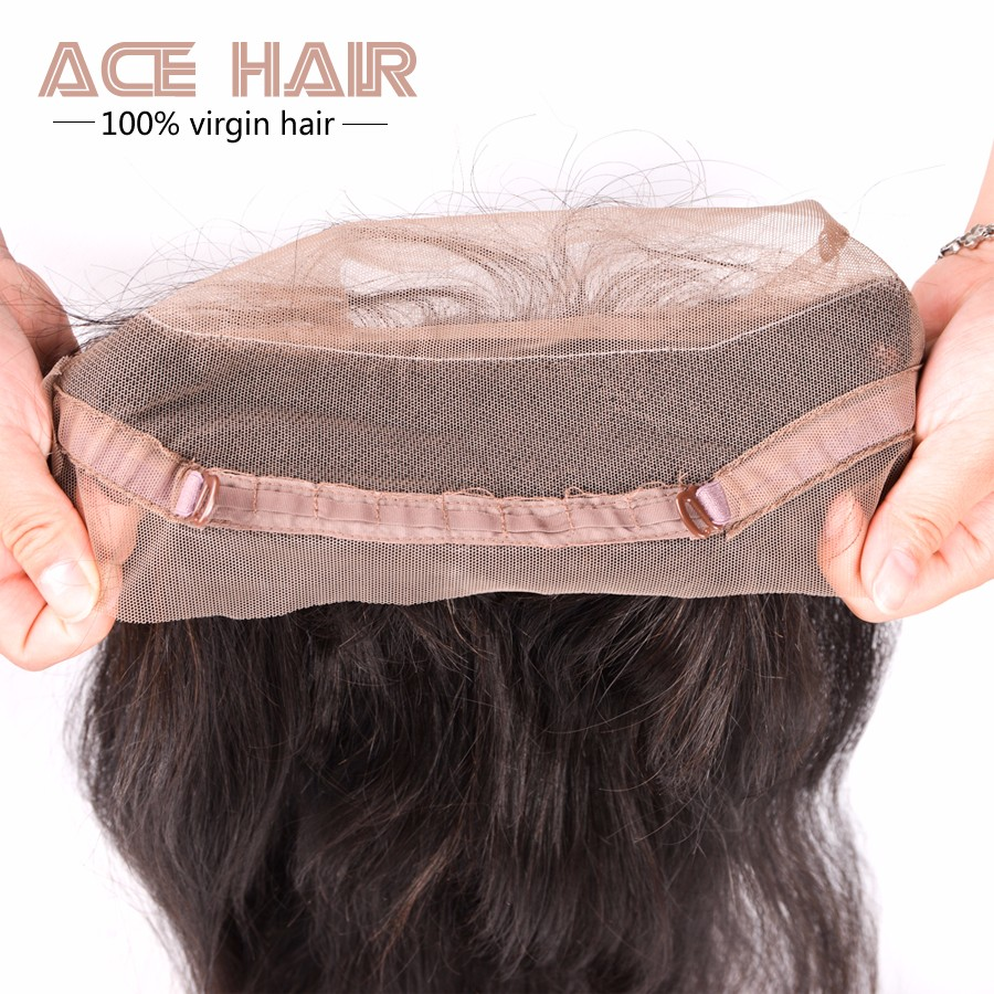7A 360 Lace Frontal With Bundle Malaysian Straight Lace Frontals 360 Lace Frontal Closure With 2 Bundles Malaysian Straight Hair