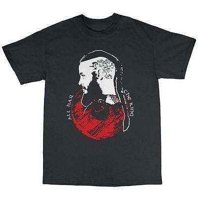 All Hail The King Vikings Inspired T-Shirt Cotton Ragnar Lothbrok Valhalla(China (Mainland))