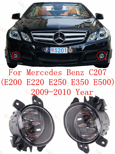 For mercedes benz C207  E200/220/250/350/500  2009-2010  Fog Lights car styling  Round<br><br>Aliexpress