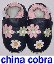 free shipping soft sole leather baby shoes ( 2012 hot design )(China (Mainland))