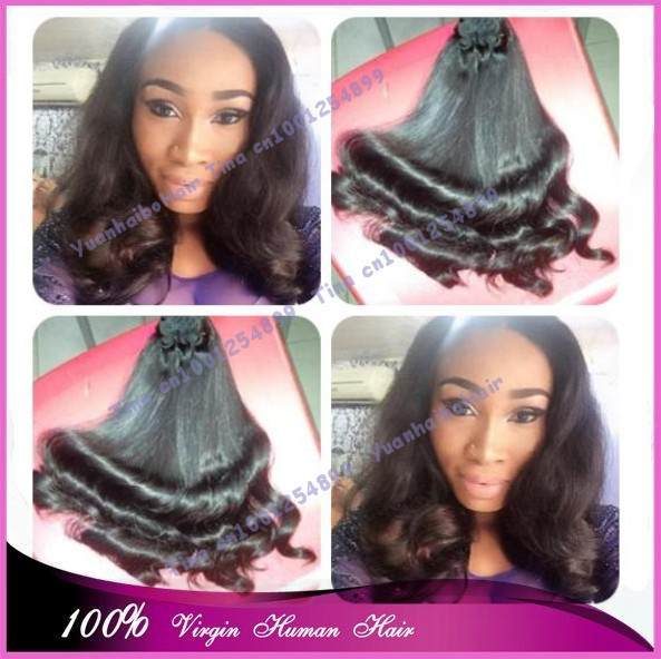 Top 6a quality 3pcs/lot #1b half posh curl funmi hair virgin peruvian human hair weaves for black free shipping<br><br>Aliexpress