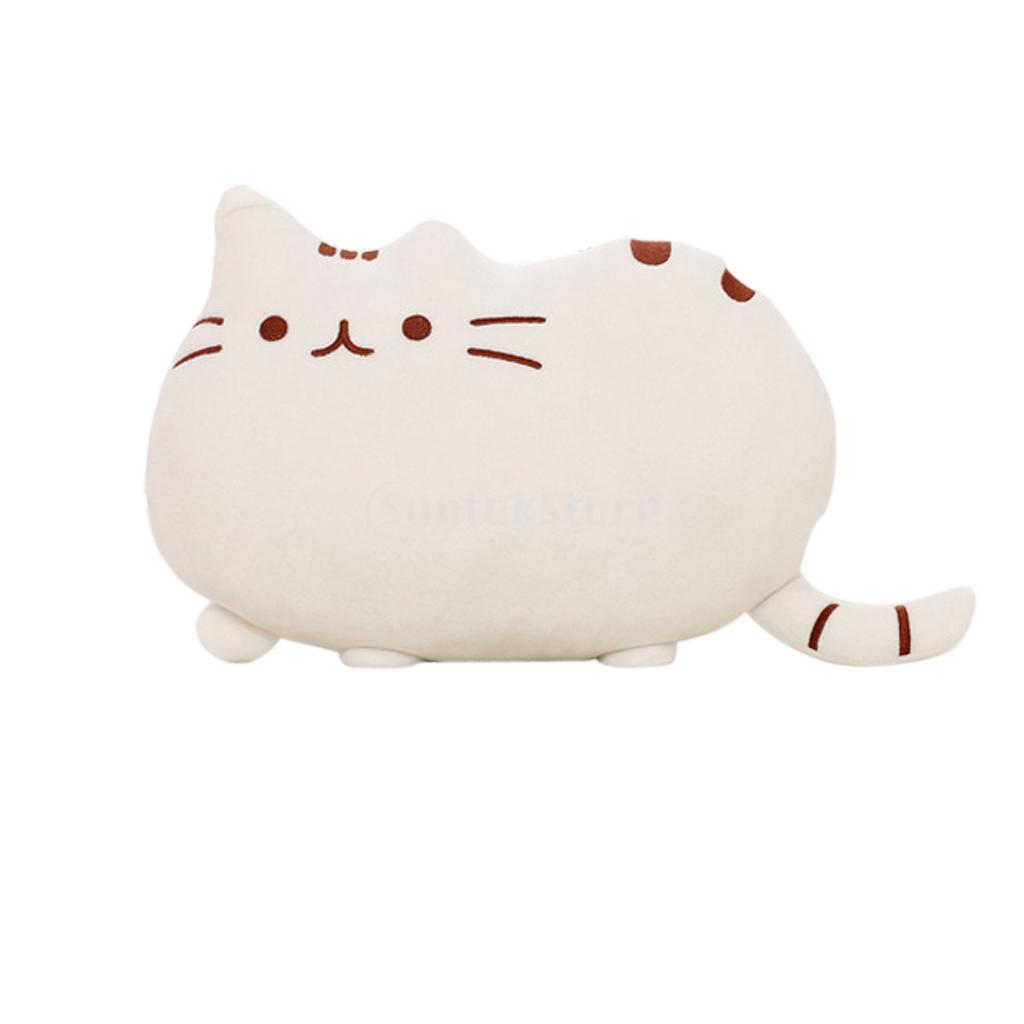 Soft Plush Cute Cat Shape Pillow Cushion Bolster Toy Home Decor Free Shipping-in Bedding Pillows ...