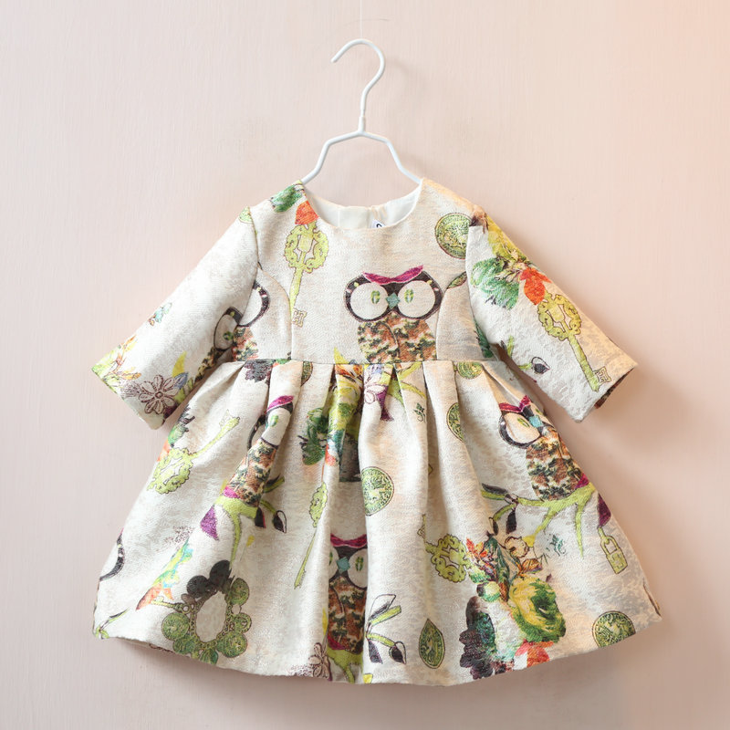 Free shipping new arrival Hot sale 2015 Autumn kids girls formal dress baby girls party dresses girls clothes girl dress 2-7Y(China (Mainland))