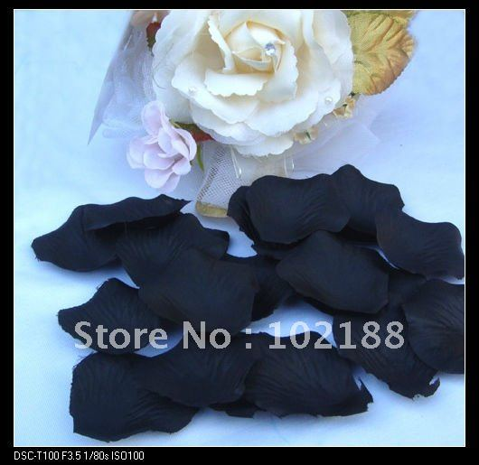&(1000pcs/bag) Black Silk Rose Petals Wedding Party Flower Favors - Ningguo Stylish Convertible Gift Packaging Plant store