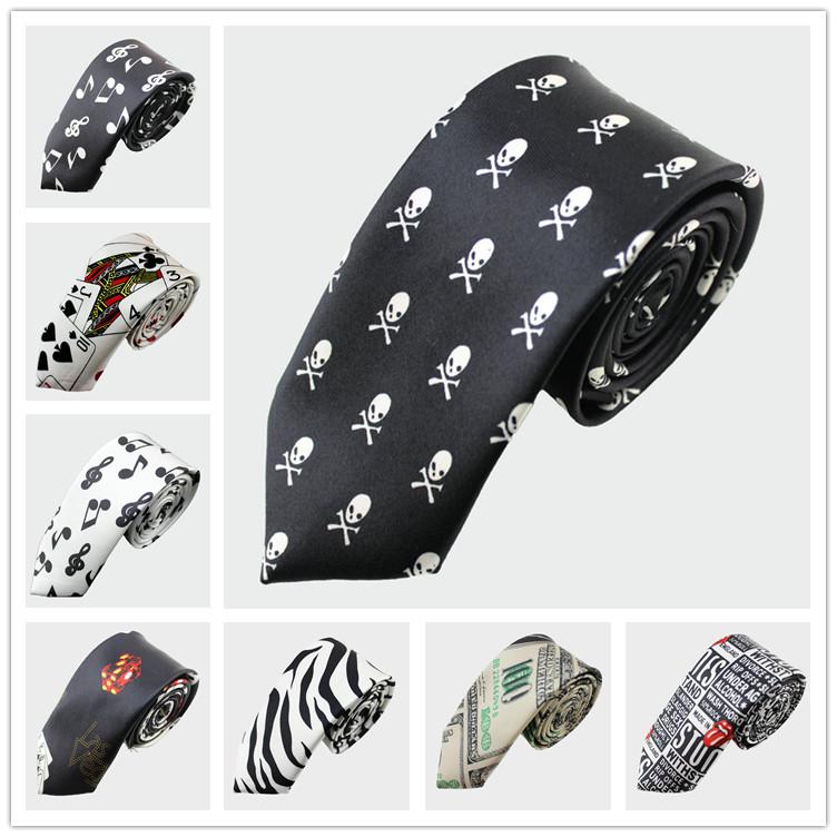"Гаджет  sample order  2"" slim men ties necktie black skull skinny tie ties for men drop shipping None Одежда и аксессуары"