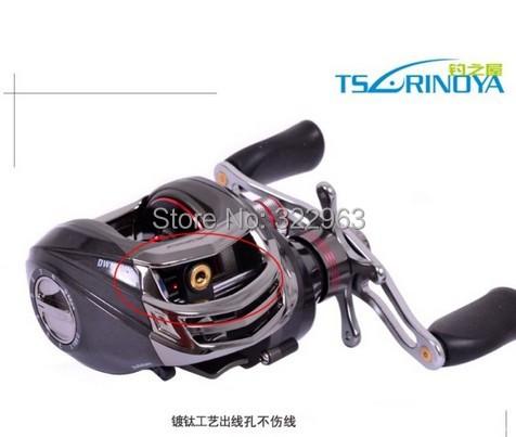 204g Trulinoya Brand 11 Wheel Shaft Water Black Right Hand Baitcasting Lure Reel Bait Casting Fishing Reel DW1000-11-HY T30(China (Mainland))