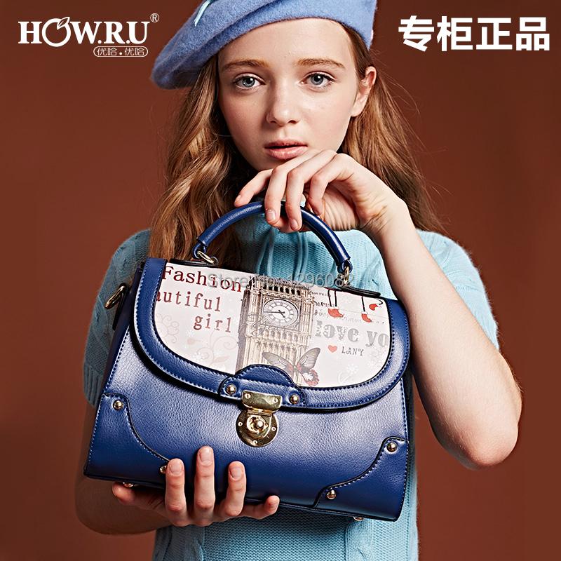 Women's bags 2014 hot handbag big ben messenger bag fashion print autumn and winter female handbag shoulder bag(China (Mainland))