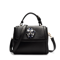 Japan Korean Style Women Small Bag Stylish Rhinestone Ornament Trendy Stylish Shoulder Bag Ladies Classy PU