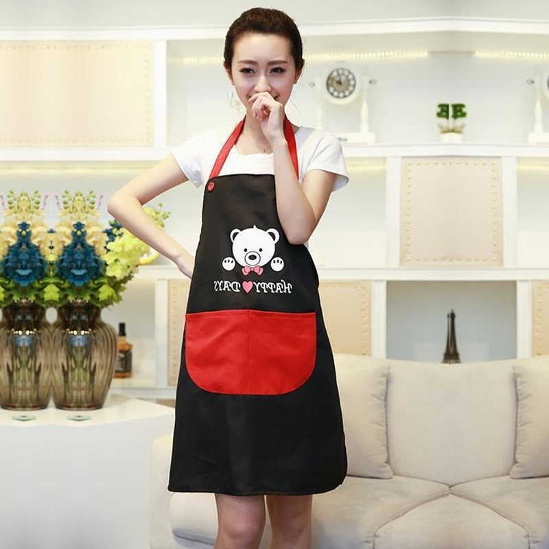 Korean Home Aprons bib Furnishing Environmental Protection Advertisement Apron Cafe restaurant uniforms(China (Mainland))