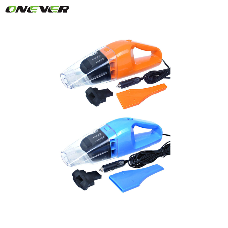 Onever Portable Car Vacuum Cleaner Power 120W Orange Blue Super Absorb Car Waste Wet and Dry Dual Use With 5 Meters of Cable(China (Mainland))