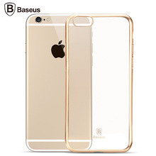 For Apple iPhone 6 6s plus 4.7'' 5.5'' Case Baseus Slim Crystal Clear TPU Silicone Protective Cover Cases(China (Mainland))
