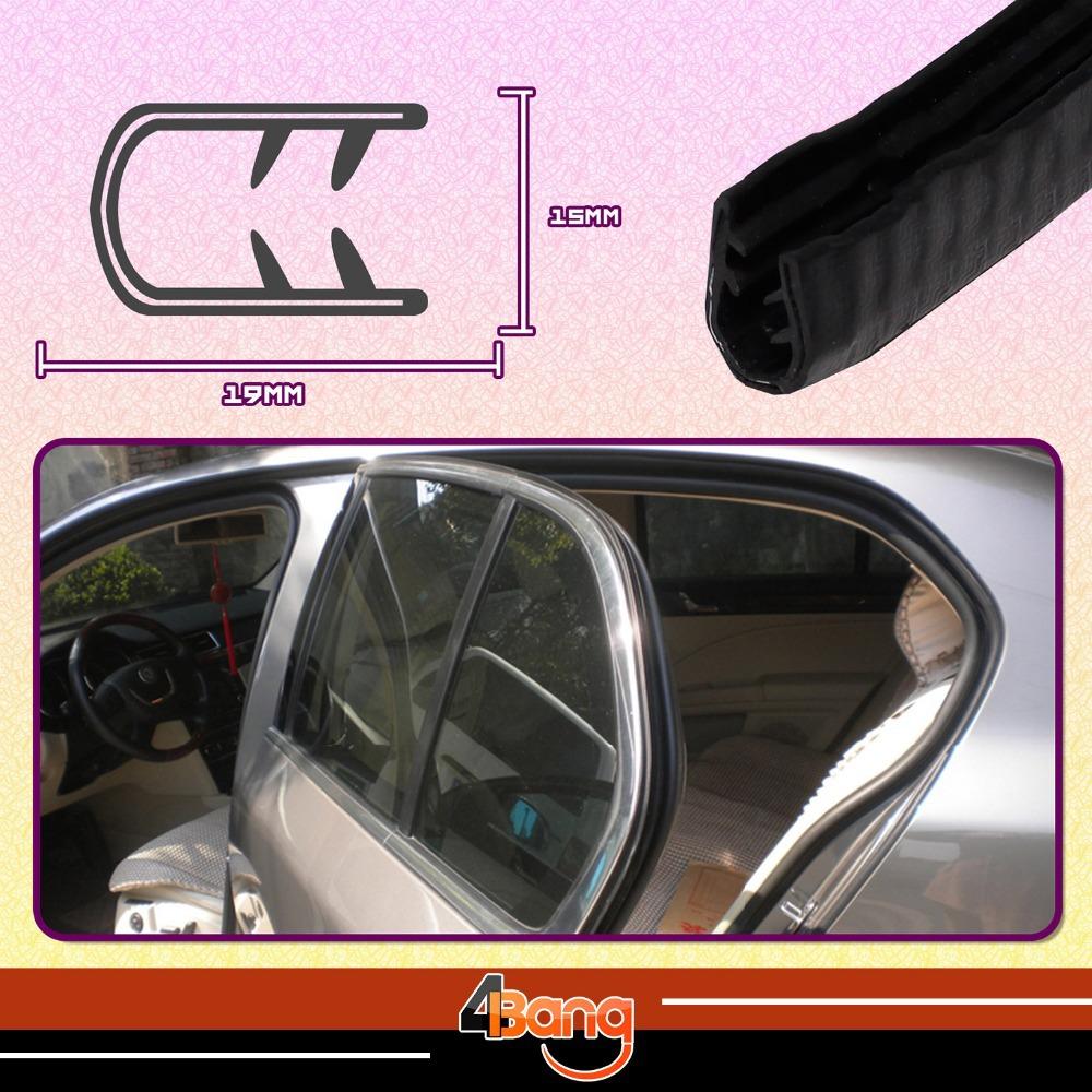 """19mmx15mm Black Edge Seal RV Lock Trim Rubber Strip Car Pillar Trailer Camper Window Door Sound Noise Insulation 197"""" 500cm(China (Mainland))"""