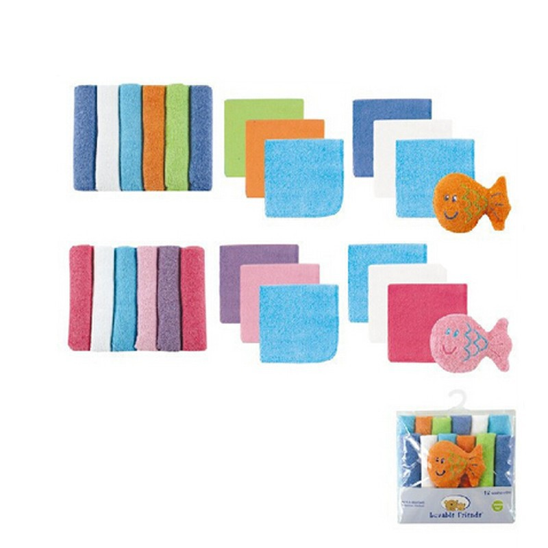 2015 New Merchandising 12pcslot Bebe Toalhinha Country Luvable Friends Child Towel Set With Bathtub Bonus Toy Present Set Child Care (3)